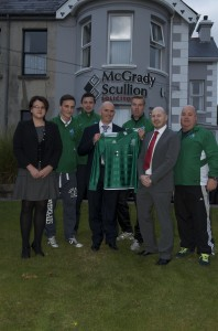 From Left - Right: Nicola Burns, Sean McMahon, Damien Turley, Brian Scullion, Stevie Hughes, Declan Green & Barney Donnolly