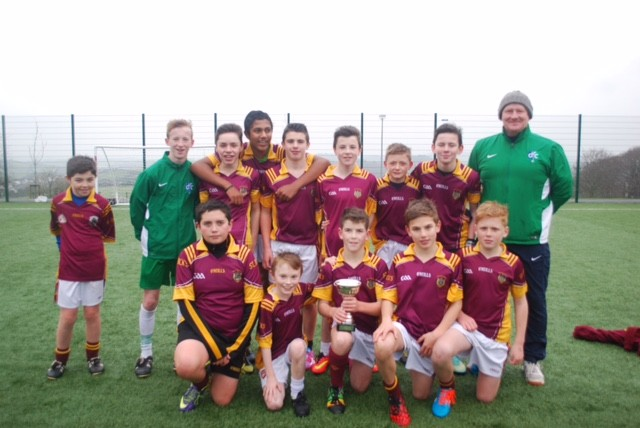 Year 9 winners of downpatrick fc schools tournament see club notes